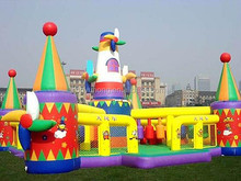 Good quality PVC tarpaulin commercial inflatable castle bounce house for kids