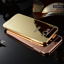 Back Screw Metal Bumper Case For Iphone 5,For Iphone 5S Mirror Case