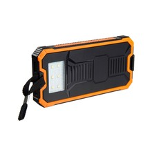 2017 trending products portable plastic solar power bank with 6 led lights