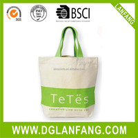promotion cotton tote bag/plain white cotton bag/cheap logo shopping tote bags