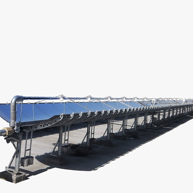 Chemical pharmaceutical industry solar parabolic trough collector concentrator
