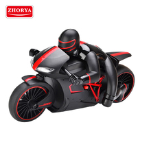 Zhorya 2 wheels 2.4G high speed plastic remote control rc battery rechargeable toy racing motorcycle for boys