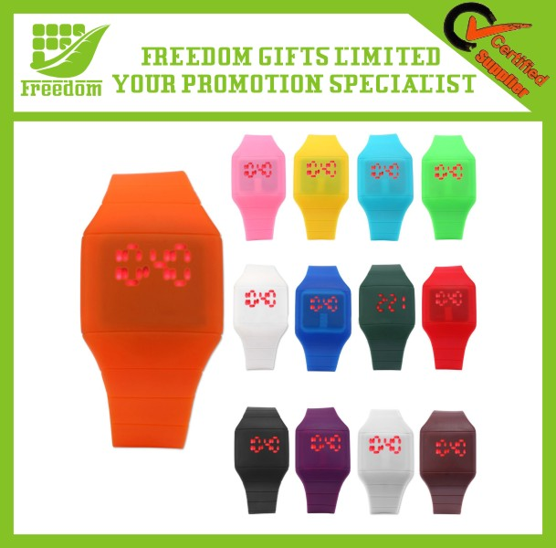 Promotional Customized Logo LED Silicone Watch