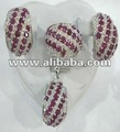 Sterling Silver jewerly Set with Rubies