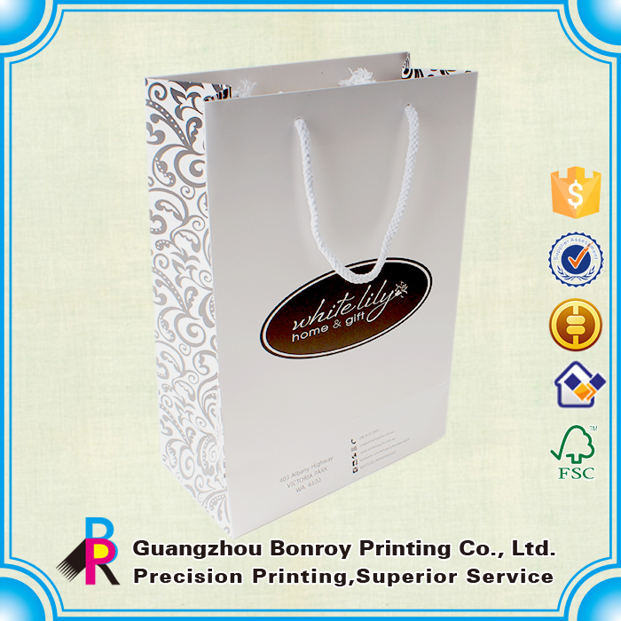 High quality art paper custom paper bag with ropes