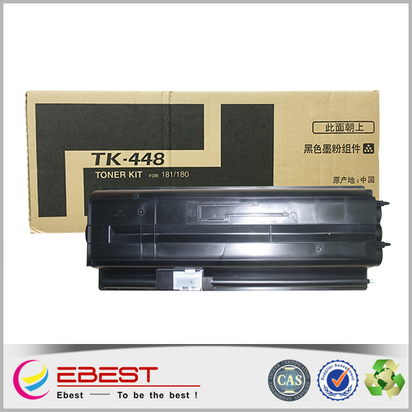 Ebest TK-448 Black and Full Cartridge's Status compatible for Kyocera copier toner cartridge