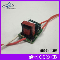 Cheap led power supply 5W bulb led driver 240MA non-isolated