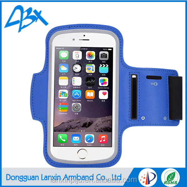 OEM/ODM Relective Phone Armband Case for iPhone 6 & 6s Plus with Key Holder