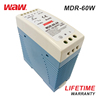 WODE Chinese Efficiency 86% 220V 60W Ac Din Rail Switching Power Supply