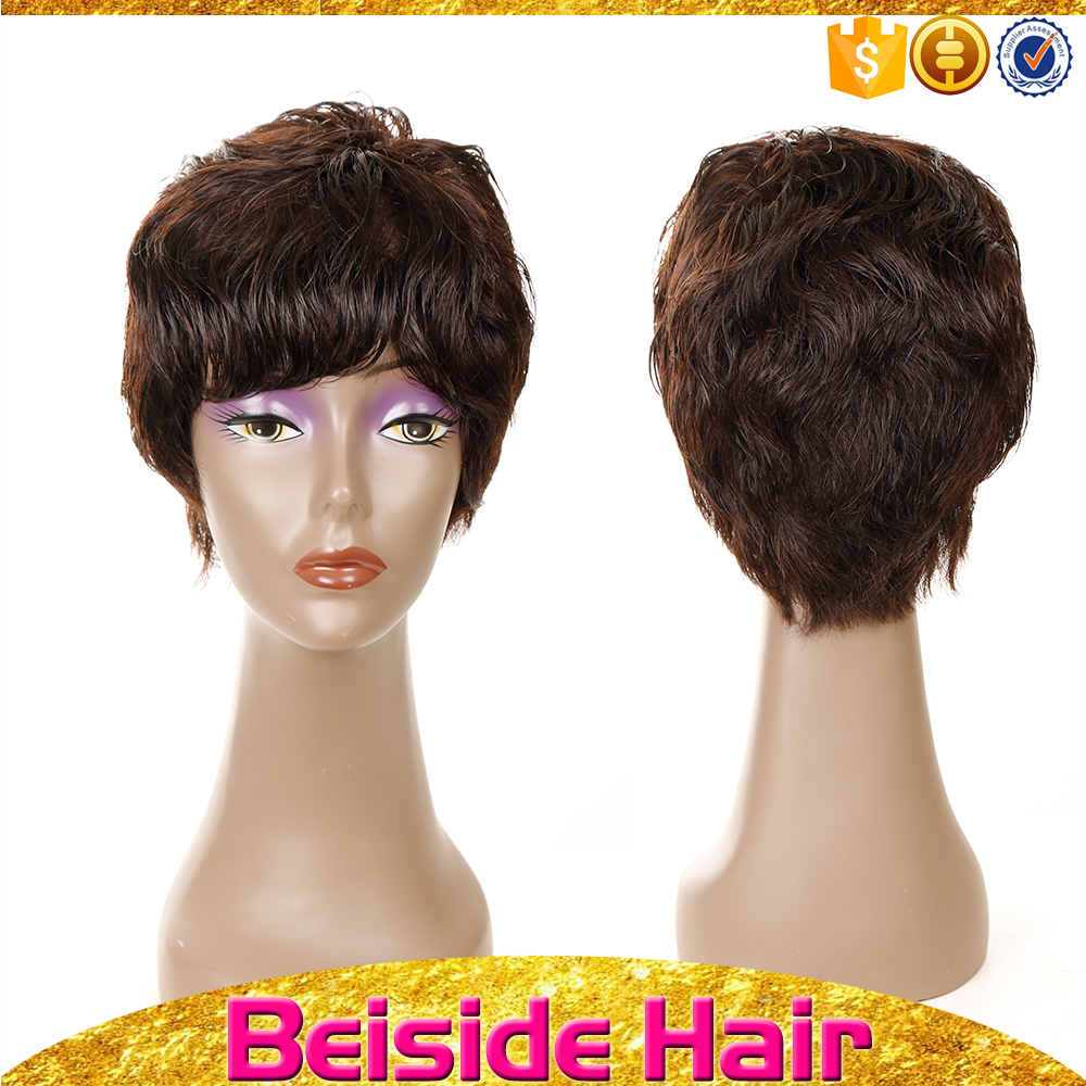 2015 best quality cheap price beauty short human hair wig for black women