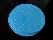 blue with white dots cake board paper cake board