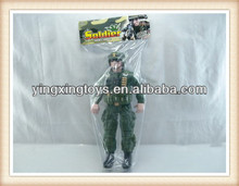 46cm kids plastic military figure plastic painted toy soldiers