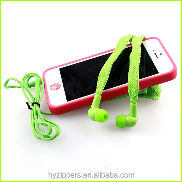 best quality funny shoelace earphones earbuds buik in china