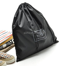 promotion cheaper polyester drawstring travel storage bag or shoe bag