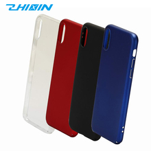 Recycled 4 colored shockproof pc blank cell phone case for iphone X phone case cover