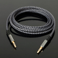 Braided Fabric 3.5mm Male To Male Music Audio AUX Auxiliary Cable for iPad MP3 CAR for smartphones