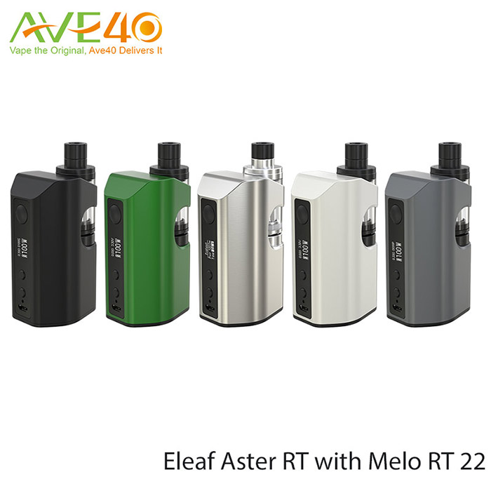 AVE40 Eleaf Aster RT with Melo RT 22 with ERL 0.15ohm Head 4.5ml Eleaf MELO RT 25 Atomizer 75w eleaf istick pico electronic ciga