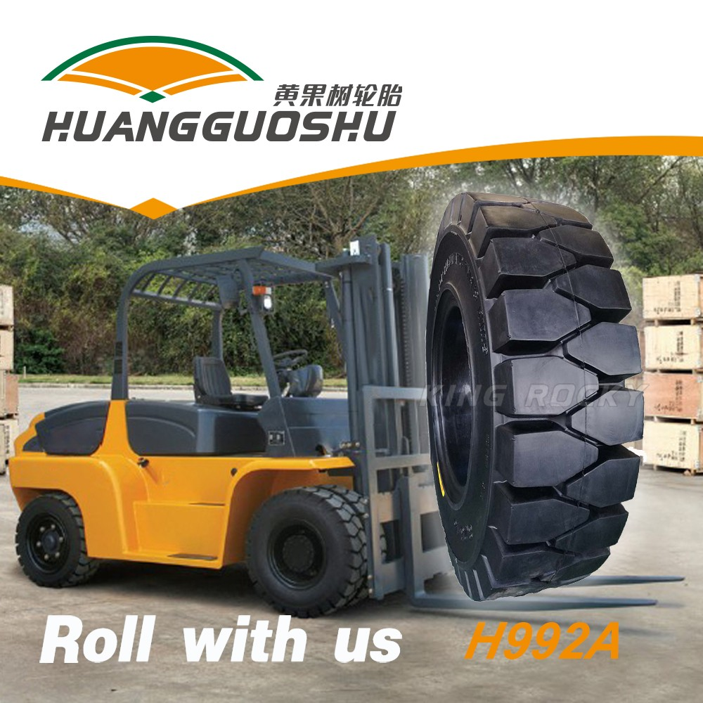 Industrial solid forklift tire 27x10-12