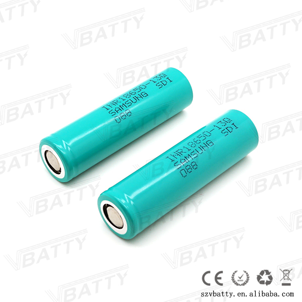 samsung inr18650-13q 1300mah li-ion battery 3.6v 15a continue discharge for power tools battery pack