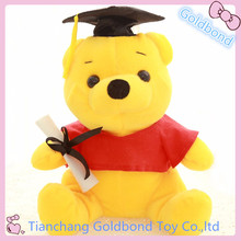 Customized Soft Stuffed Graduation Gift Doll Plush Animal Teddy Bear Toy