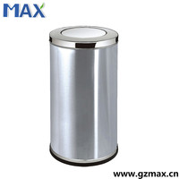 inoor living room metal stainless steel swing top waste trash bin
