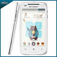 Original Lenovo A356 Pink Cell phones Android 4.0 MTK6515 RAM512 ROM 4GB Dual SIM card Smart phone