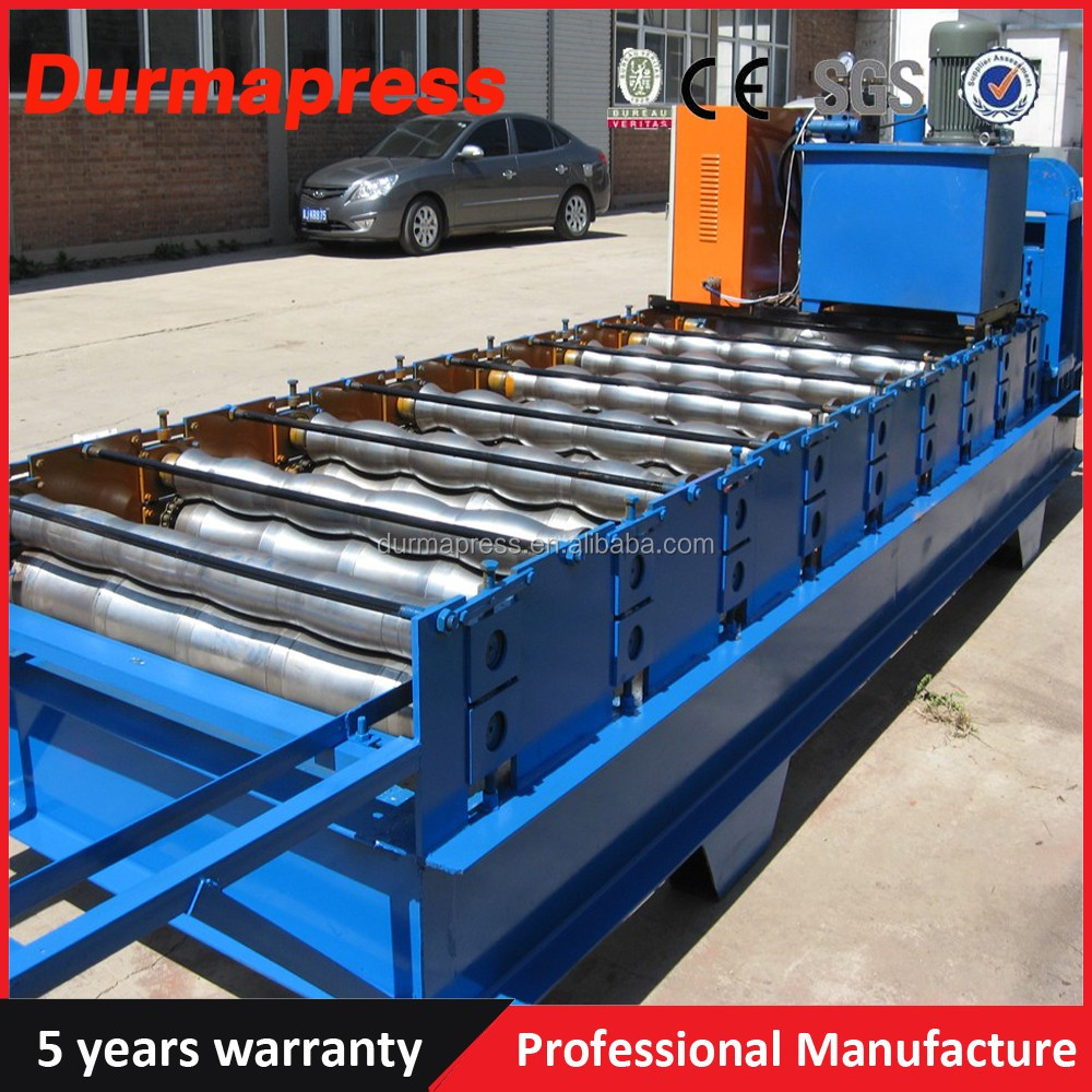 Coloured Sheet Molding Metal Trapezoidal Roofing Machine with 5 years warranty