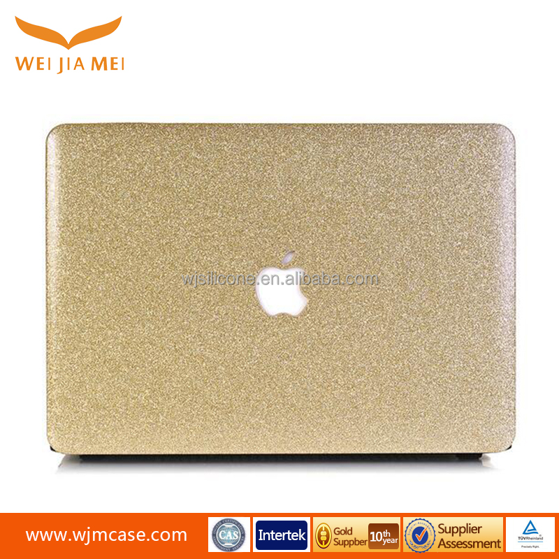 Hot selling OEM/ODM Glitter leather cover for macbook pro 11' 13' case