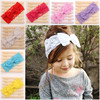 Fashion Striped Baby Lace Bow Headband