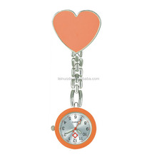 Free Shipping!! New heart shape Fob Nurse Watch with Safety Clip Pendant Hanging Pocket Nurse Fob Watch Relog Luminous Hands