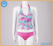 2013 Multi Colour Deep V-neck Sex Tankini
