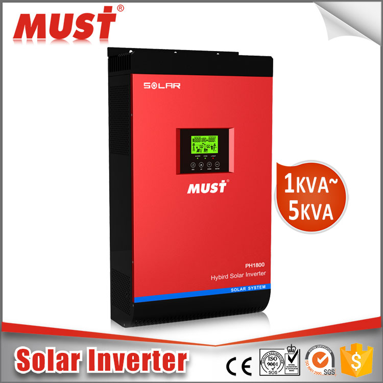 MUST High frequency 3KVA 5KVA Hybrid charger solar inverter with MTTP controller