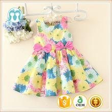 2017 Latest Baby Party Dress Children Frocks Design Flower Baby Girl Summer Dress