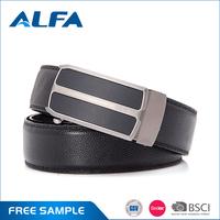 Alfa Wholesale Custom Designer Automatic Zinc Alloy Buckle Belts Leather Men