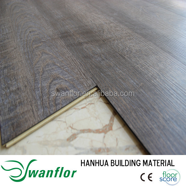 TOP SELLING Cork/Bamboo core Wood Plastic Composite Flooring, colored cork board tiles, interior wood plastic composite flooring