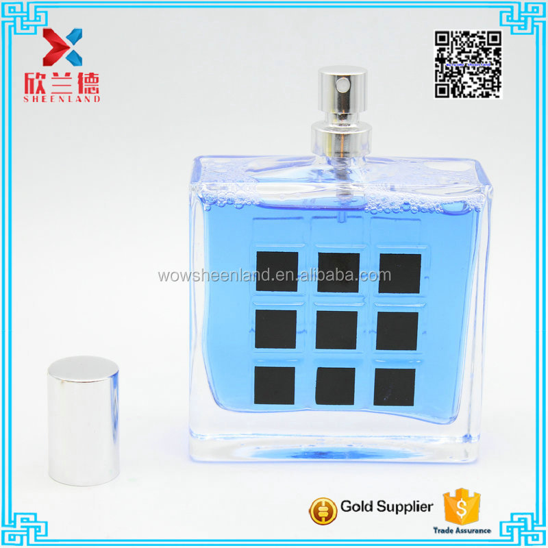 new style rectangle glass perfume bottle 100ml free sample perfume for man
