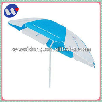 polyester fabric tilted beach umbrella