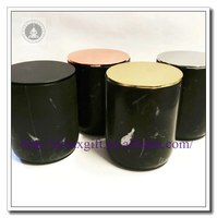 Natural marble custom black candle jar/luxury candle/tea cup candle holder