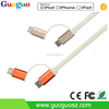 2015 New Products Flat 2 in1 MFI Certified Date Cable C48 Connector USB Charger Cable for iPhone 6 Android Phones