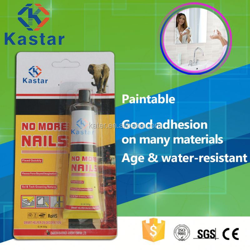 Kastar new product Floor tile nail free bond adhesive with ISO14001 approved