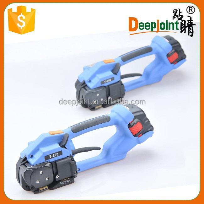 Battery Powered Plastic Strapping Tool Portable Strapping Machine