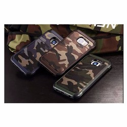 2016 New design cool camouflage case silicone for Samsung galaxy S7