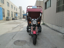 Chinese Gas tricycle leisure/enclosed 3 wheel motorcycle/enclosed gas scooter
