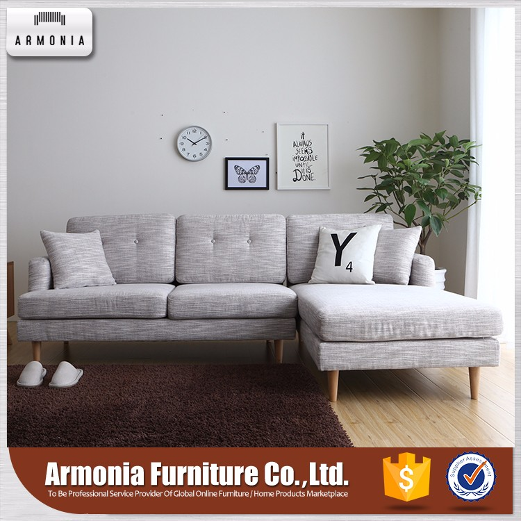 China manufacturer furniture fabric corner sofa with couch