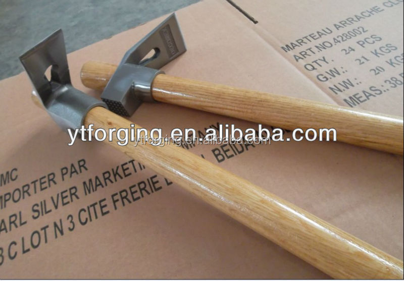 450g/550g Forged Adze Hammer with wooden handle, ADZE HEAD