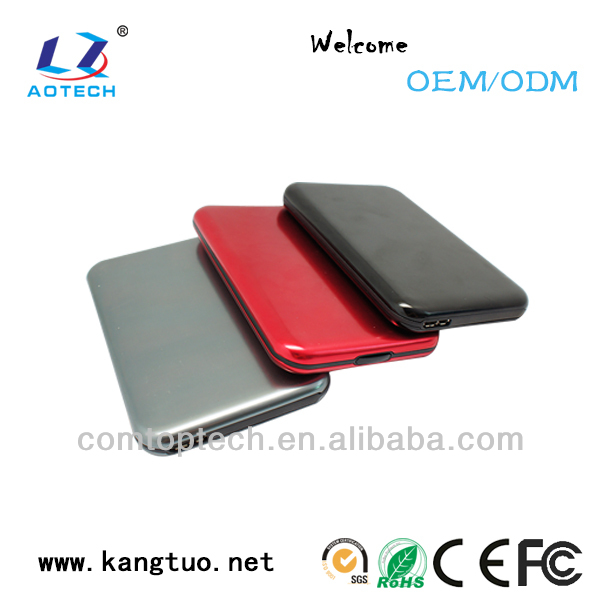 chic design 2.5 usb3.0 hdd external box with plastic material and aluminum case