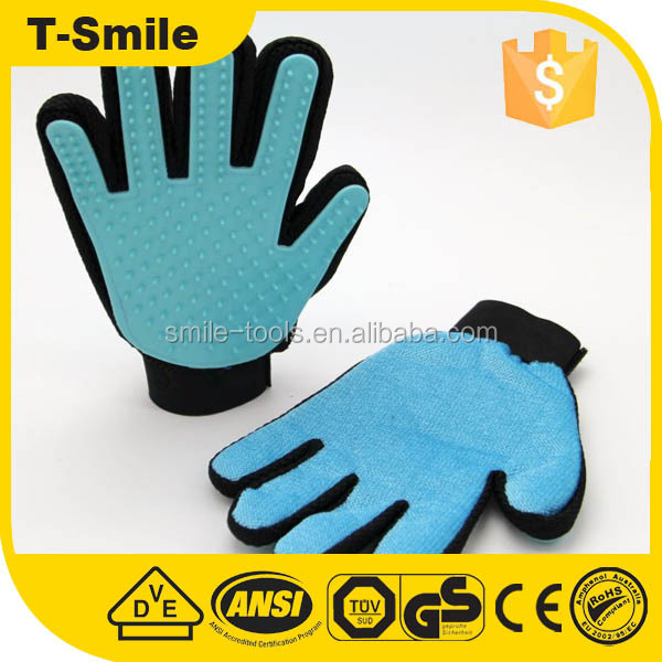 Deshedding Pet bath Grooming cleaning Washing Gloves with fingers