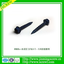 Wholesales varoius kind of low price hex washer head cement board screws