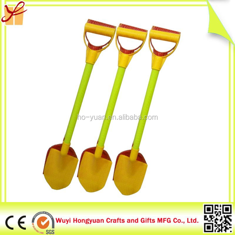 Promotional High Quality Kids Plastic Toy Yellow Sand Shovel