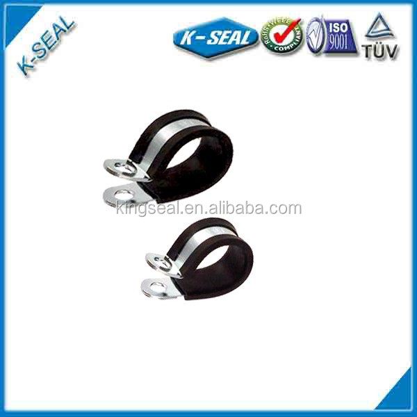 stainless steel pipe/tube clamp clips with rubber KPCF24
